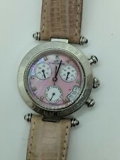 Klaus-Kobec Diamond Chronograph Watch Mother-of-Pearl Dial - KKB1918