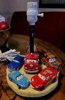 Disney Pixar Cars Movie 3D  Lightning McQueen Mater lamp - no shade - works