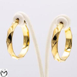 Orecchini oro giallo 18 kt 750 cerchio torchon -500/ST-