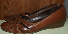 LIFESTRIDE MATCH WOMEN'S  WEDGE BROWN DRESSY CASUAL SHOES SIZE 7.5