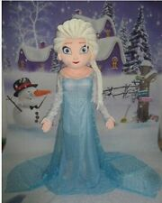 Elsa Princess from Frozen Mascot Costume Cartoon Character Adult Suit Hot Sale