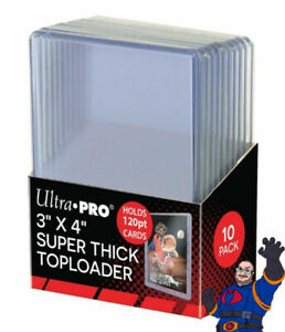 Ultra Pro 3x4 Thick 120 Point Toploader 10ct 120PT ** FREE SHIPPING **