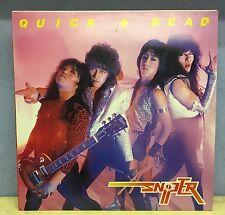 SNIPER Quick And Dead - 1985 Dutch mmanufactured Vinyl LP  EXCELLENT CONDITION