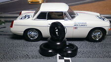 1/32 URETHANE SLOT CAR TIRE 2pr PGT-20062V fit Scalextric MGB