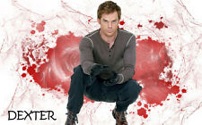 "Dexter TV Show Fabric poster 20"" x 13""Decor 26"