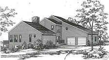 3 Bed Room, 2 1/2 Bath 2200 SF Contemporary / 2 Car Garage Building House Plans