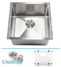 "New listing 18"" 15mm (1/2"") Radius Square Corner Stainless Steel Kitchen / Island Bar Sink"