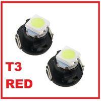 2 X RED LED T3 Neo Wedge SMD LED Dash Console Controls Light Bulbs 8mm