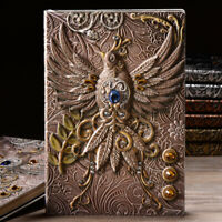 """Emboss Phoenix"" 1pc Faux Leather Diary Journal Vintage Retro Notepad Notebook"