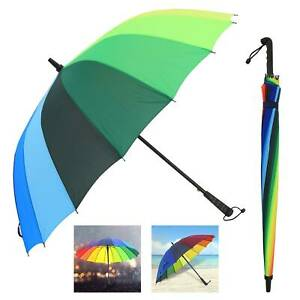 Multi-Coloured Golf Umbrella Windproof Rainproof Unisex Umbrella Large 125CM
