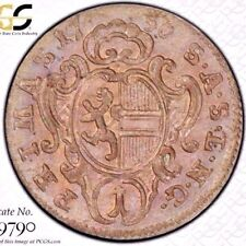 FINEST @ NGC & PCGS MS62 1756 KREUZER AUSTRIA SALZBURG SILVER TONED RAMPANT LION