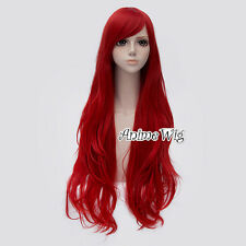 Anime For Jessica Rabbit Red 80CM Long Wavy Halloween Party Cosplay Wig+Wig Cap
