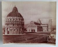 Albumen Photo Italy Pisa Piazza del Duomo Fratelli Alinari Enrico Van Lint 1855