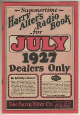 Harry Alter's Radio Book  (catalog)  1927   48   Pages  VG  Condition