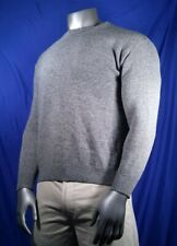 United Colors Of Benetton Sweater Grey Crew Neck Men's Size Medium