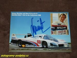 Dieter QUESTER - original autogramm, LOLA T616/Mazda (1984), Karte/card 10x15