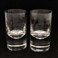 2 Rosenthal Heavy Crystal Cocktail Tumblers 5 1/8