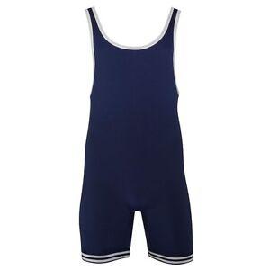 Matman #83 ADULT Wrestling Uniform Singlet, 100% Double-Knit Nylon, Navy Blue