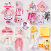 "Baby Doll Clothes Set Romper+Plush Toy for 20""- 22"" Newborn Reborn Doll Outfit"