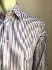 Ted Baker Endurance Shirt, Fairweather Stripes, M (15-1/2, 35), Exc Cond