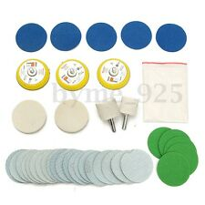 38PCS Glass Polishing Cerium Oxide Powder Watch Kit White With 2 Felt Wheels 20g