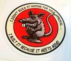 Rat sticker decal hot rod rat rod vintage look car truck  kustom kulture