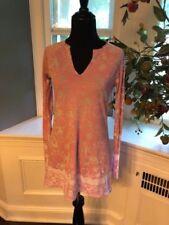 Ladies Pink Lotus Pink Long Sleeve Shirt Size Medium