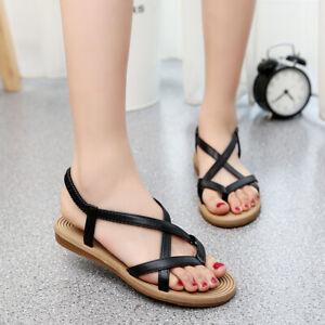 Women's Slingbacks Sandals Flip Flops Casual Gladiator Roma Shoes Summer Flats