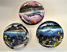 Robert Lyn Nelson Underwater Paradise Set with Boxes Danbury Mint Lot of 3
