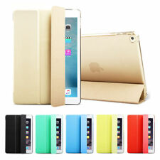 For iPad 9.7 A1822 A1823 2017 Smart Magnetic Stand Leather Hard Back Case Cover