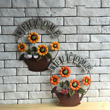 Hanging Welcome Pendant Iron Craft Wall Decor Garden Sign Outdoors Ornaments