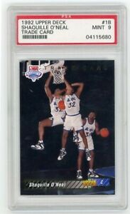 SHAQUILLE O'NEAL RC PSA 9 1992-93 UPPER DECK TRADED #1B ORLANDO MAGIC LAKERS
