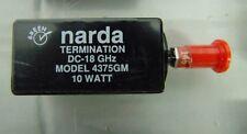 Narda 4375GM Termination. DC to 18GHz, 10W, SMA Male. 50Ohm