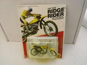 "1980 ZEE DIECAST 3"" LONG YAMAHA 400MX DIRT BIKE RIDGE RIDER NEW ON CARD"