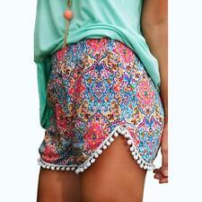 Sexy Women Ladies Summer Hot Pants Shorts Floral High Waist Loose Beach Short