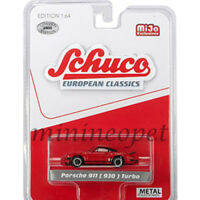 SCHUCO 8900 EUROPEAN CLASSICS PORSCHE 911 930 TURBO 1/64 RED