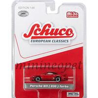 SCHUCO 8900 EUROPEAN CLASSICS PORSCHE 911 930 TURBO 1/64 RED