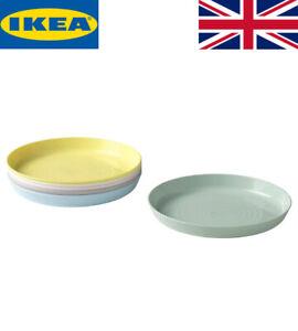 New IKEA Kalas Kids Baby Multicolour Plastic Plates Pack of 6