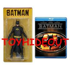 "NECA 1989 BATMAN MICHAEL KEATON ACTION FIGURE 7"" NEW RARE WITH BLU RAY MOVIE"