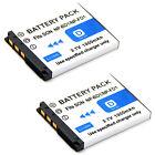 2x Battery For NP-BD1 Sony Cyber-Shot DSC-T70 DSC-T700 DSC-T75 DSC-T77 Camera