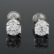 D VVS1 STUDS SOLITAIRE EARRINGS WITH SCREW BACK, 0.62 CARAT Brilliant ROUND CUT