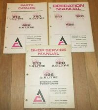"""Allis-Chalmers""  213 320 & 426  Engine  Service, Operation, & Parts  Manuals"