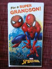 MARVEL SPIDER-MAN GRANDSON BIRTHDAY CARD