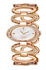 Authentic ESPRIT Ladies Watch Fashion Loops ROSE GOLD + Free Esprit Bag