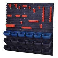 Metall Werkstattwand 25 kg Traglast Blau Aufbewahrungsbox Stapelboxen Lagerbox