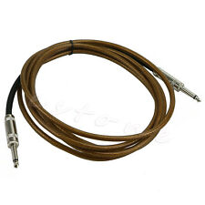 New 3m Guitar Cable Amplifier Amp Instrument Lead Cord 10ft Electric Brown