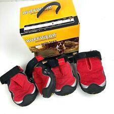 RuffWear Bark'n Boots Grip Trex Dog Boots Red 3in (76mm)
