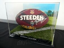 ✺Signed✺ DARREN LOCKYER Queensland Football PROOF COA Brisbane Broncos 2018
