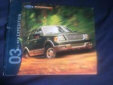 2003 Ford Expedition SUV Color Brochure Catalog Prospekt