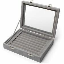 Boîte Bijoux Boite Bague Velours Ring Box Présentoir Organiseur Plateaux Earing